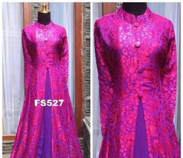 Azka Fashion Baju Gaun Gamis Dress Pesta Braso Anya 3