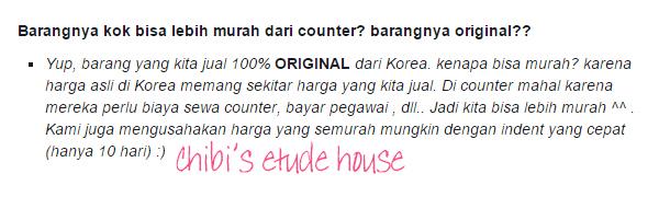 jual etude original, harga etude house, jual etude asli, jual etude house korea, etude house murah, jual etude terpercaya, chibis etude house korea, chibis prome
