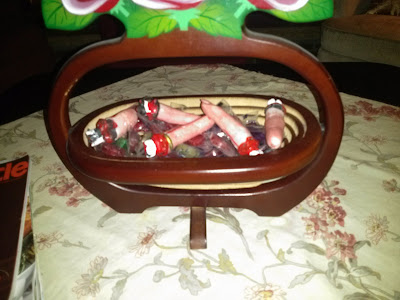 Halloween Decorations - Fingers in Candy Bowl