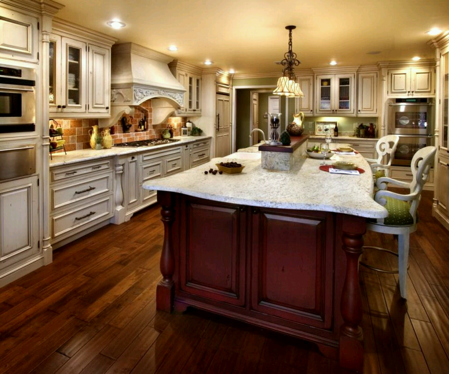 Luxury kitchen modern kitchen cabinets designs for Kitchen designs island