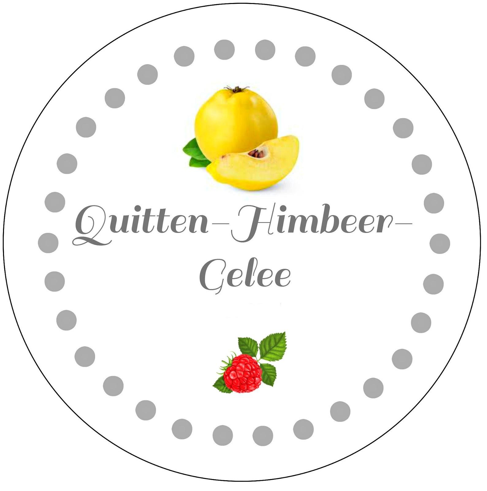 selbstgekochtes Quitten-Himbeer-Gelee