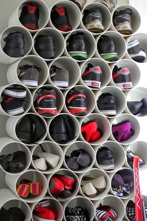 onde guardar os sapatos