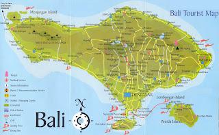 di indonesia dengan denpasar di bagian selatan pulau sebagai
