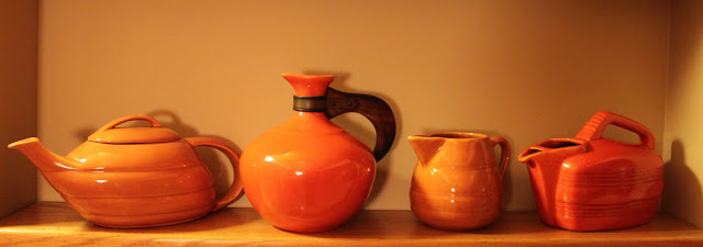 Bauer pottery orange