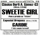 Todo A Ganador - 1º/03 - La Plata - Clásico Derli A. Gómez-G3 - Sweetie Girl, visitante de fuste