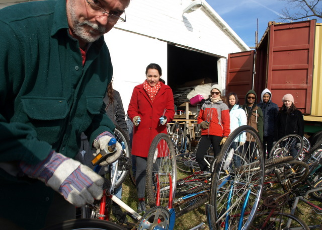 Canadians Donating Bikes To Africa Rewind to