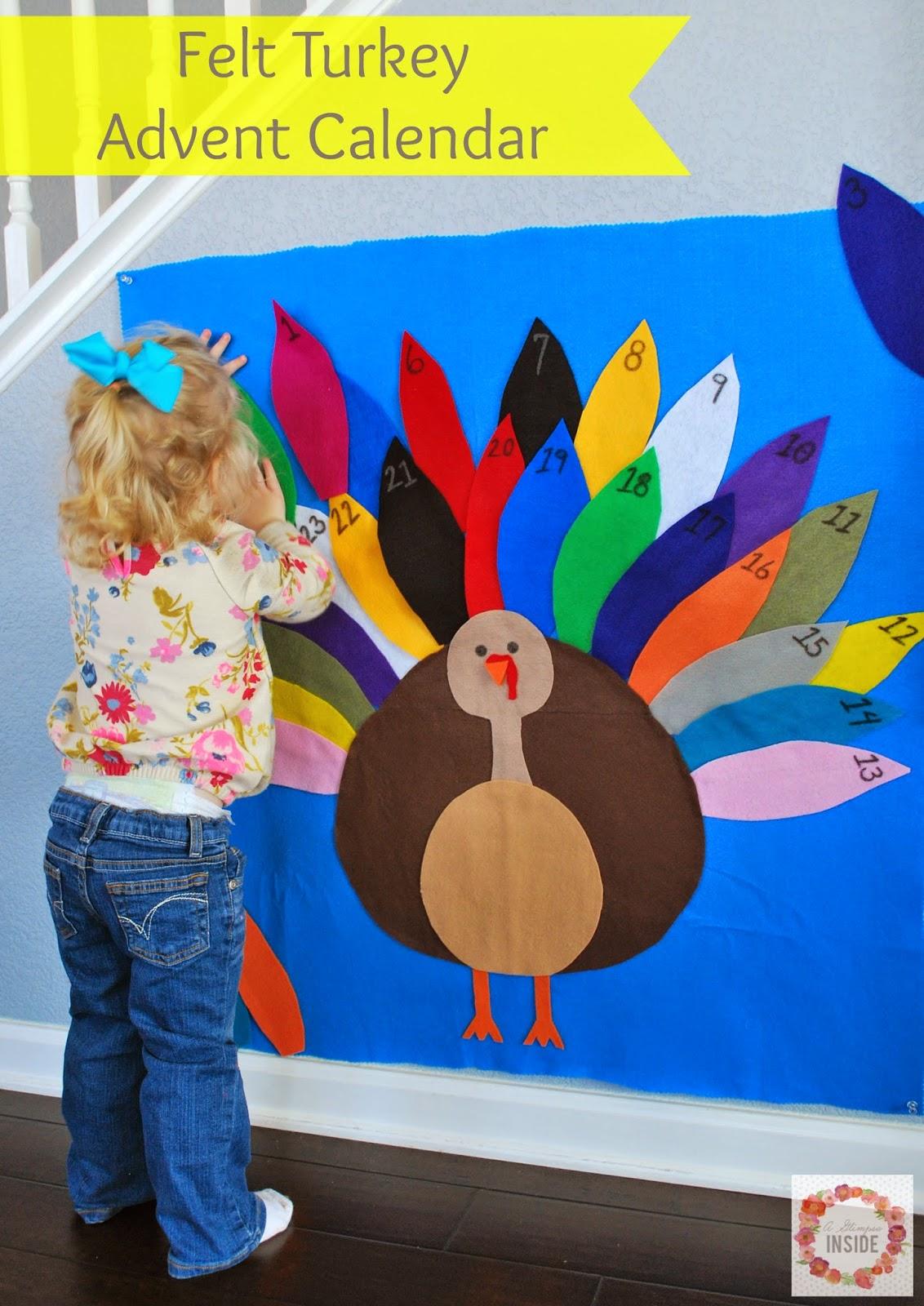 http://www.aglimpseinsideblog.com/2014/10/felt-turkey-advent-calendar.html