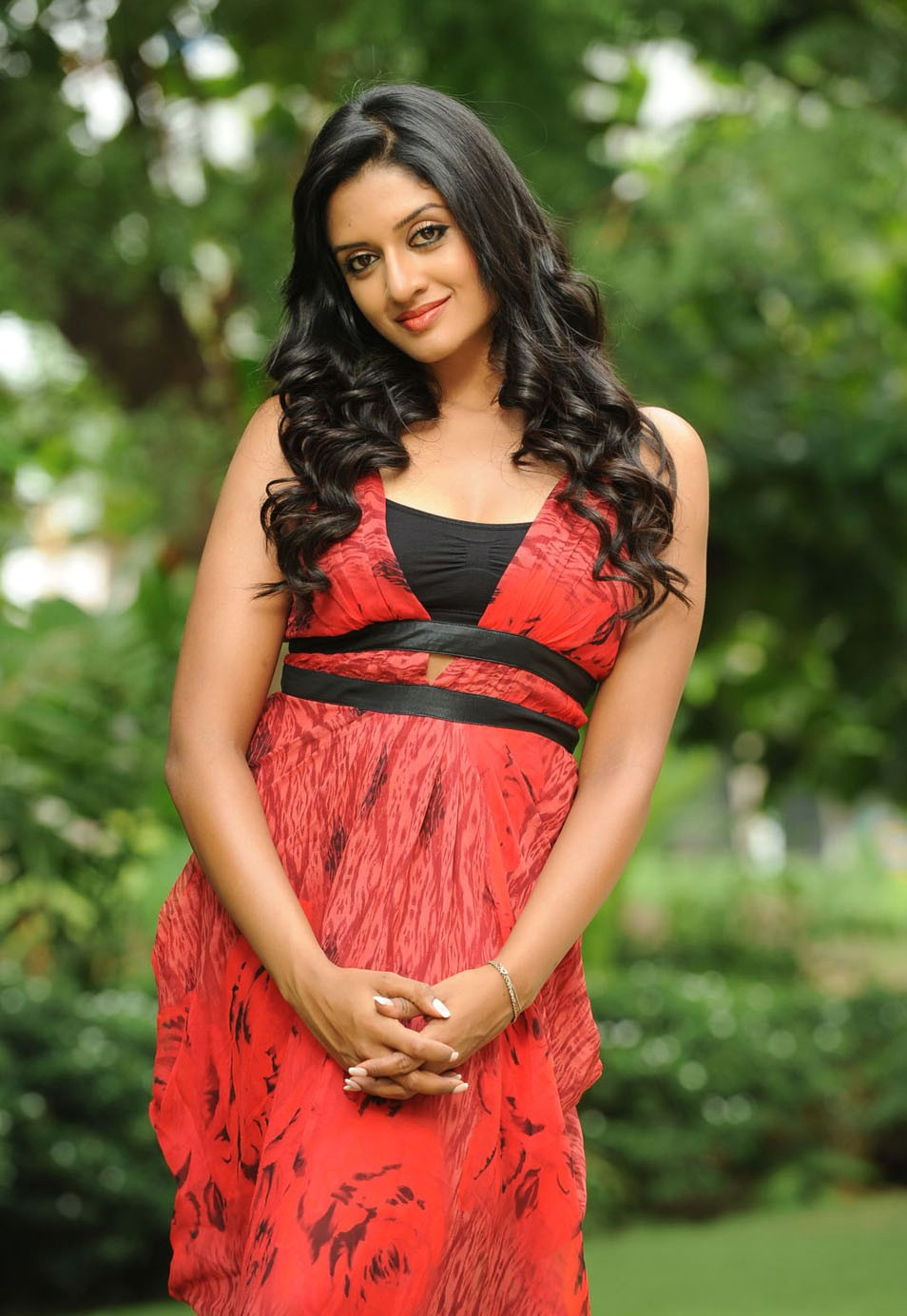 Gorgeous and rosy Vimala raman  in red dress latest spicy images