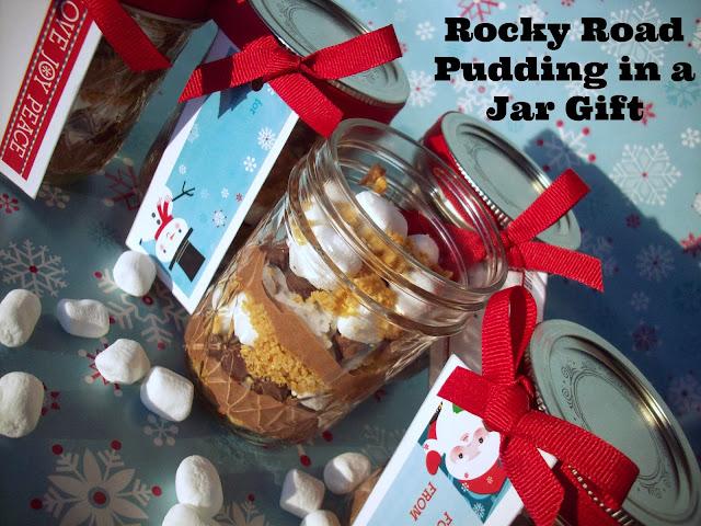 rocky road pudding gift in a jar dessert recipe