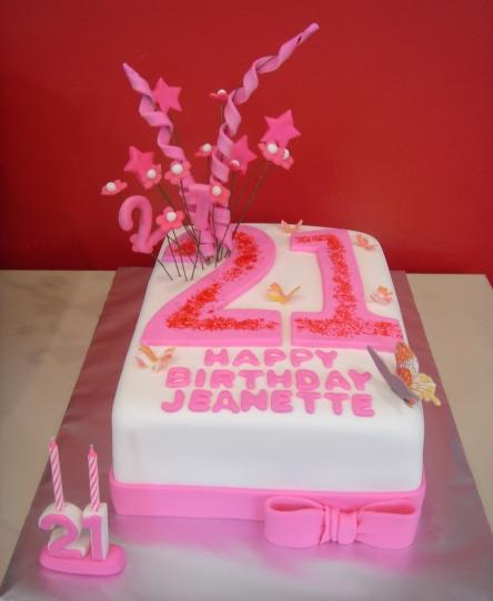 Yochana S Cake Delight Jeanette S 21st Birthday Cake