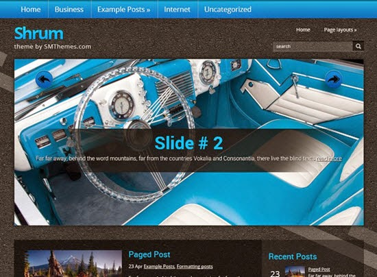 Shrum Free WordPress Theme
