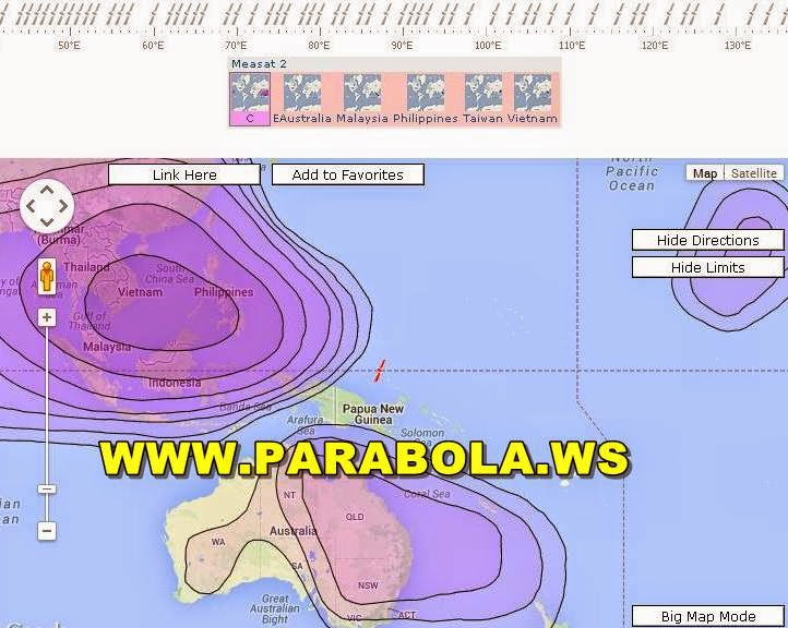 satelit parabola beam Indonesia  measat 2 cband