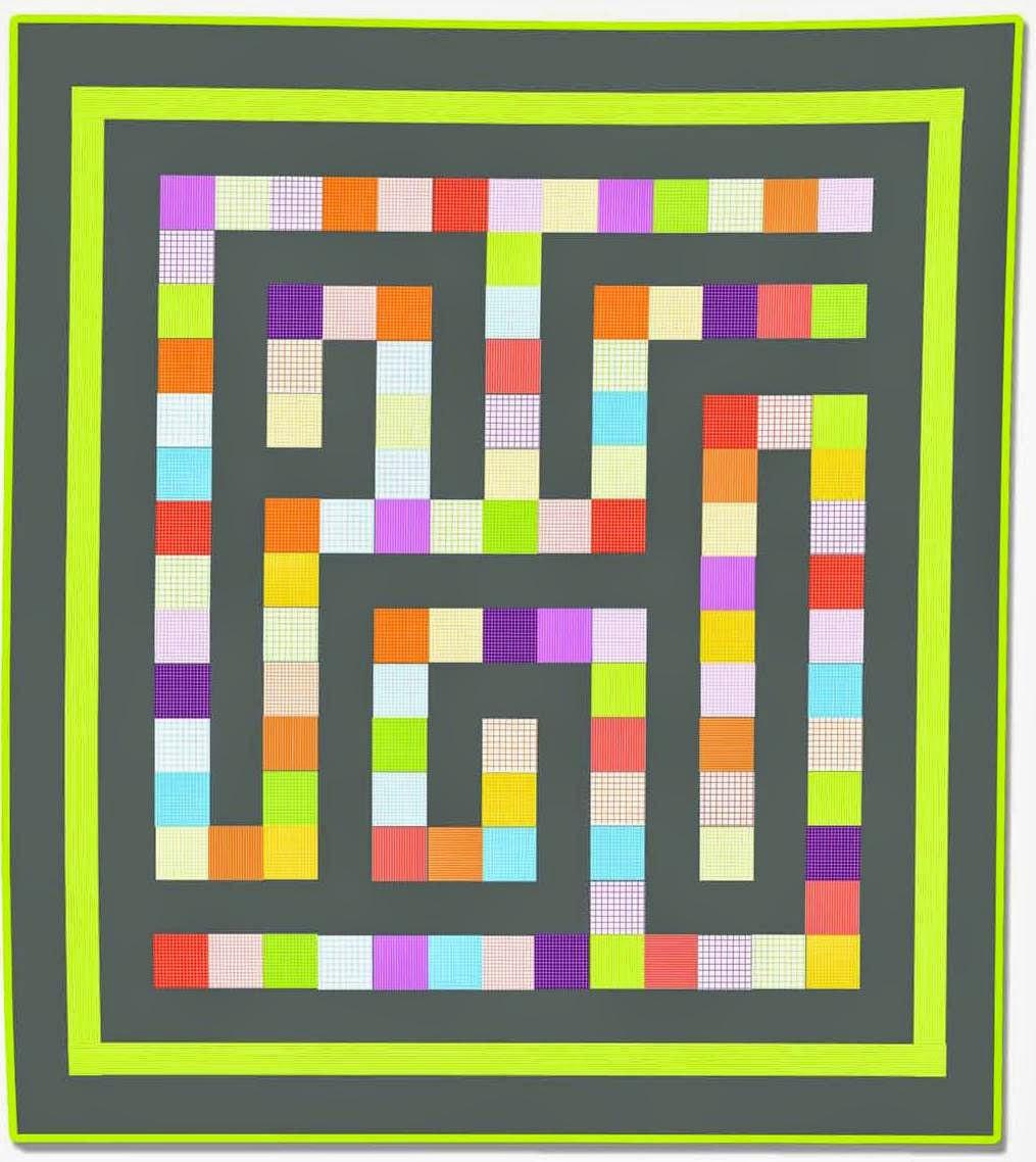Free pattern!  Maze quilt