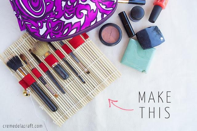 rangement maquillage pinceaux maison DIY