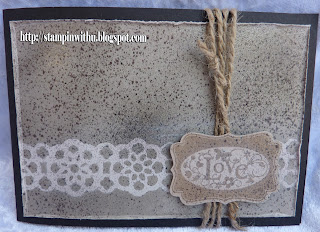 Faux Etched Stone Technique Card