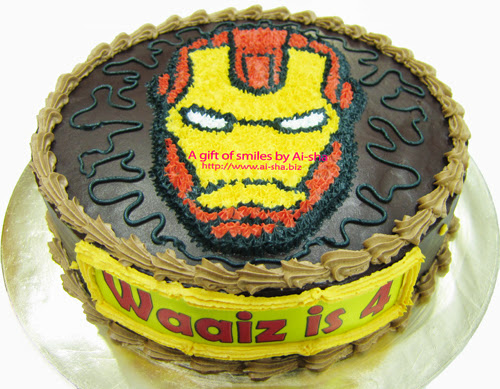 Cake Iron Man Aisha Puchong Jaya