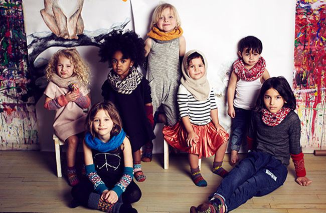 Chunky knit accessories for kids by Cabbages and Kings autumn-winter 2014/15