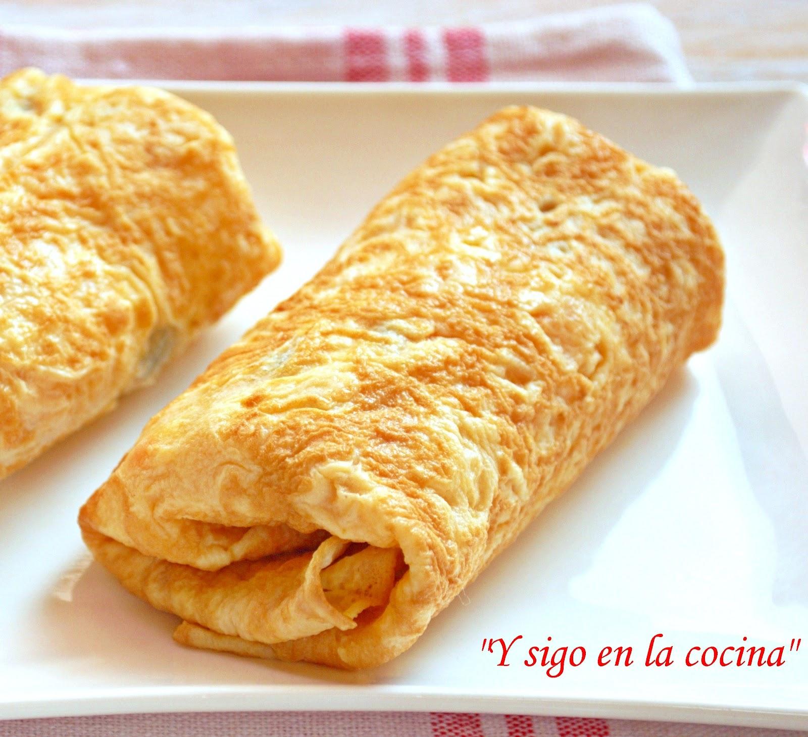 Y sigo en la cocina fajitas de tortilla francesa rellena - Tortilla francesa calorias ...