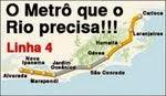 Traçado original da Linha 4 do Metro