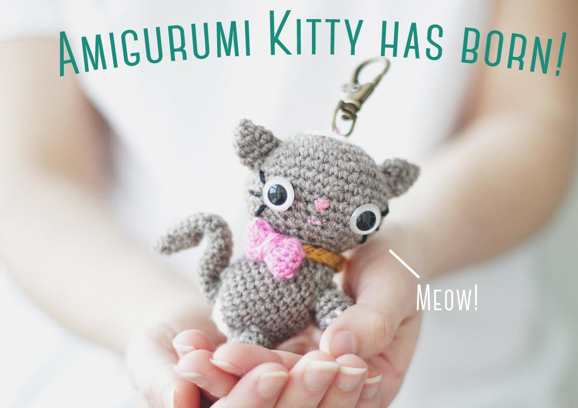 Amigurumi Human Nose : Amigurumi kitten PDF crochet pattern The Sun and the ...