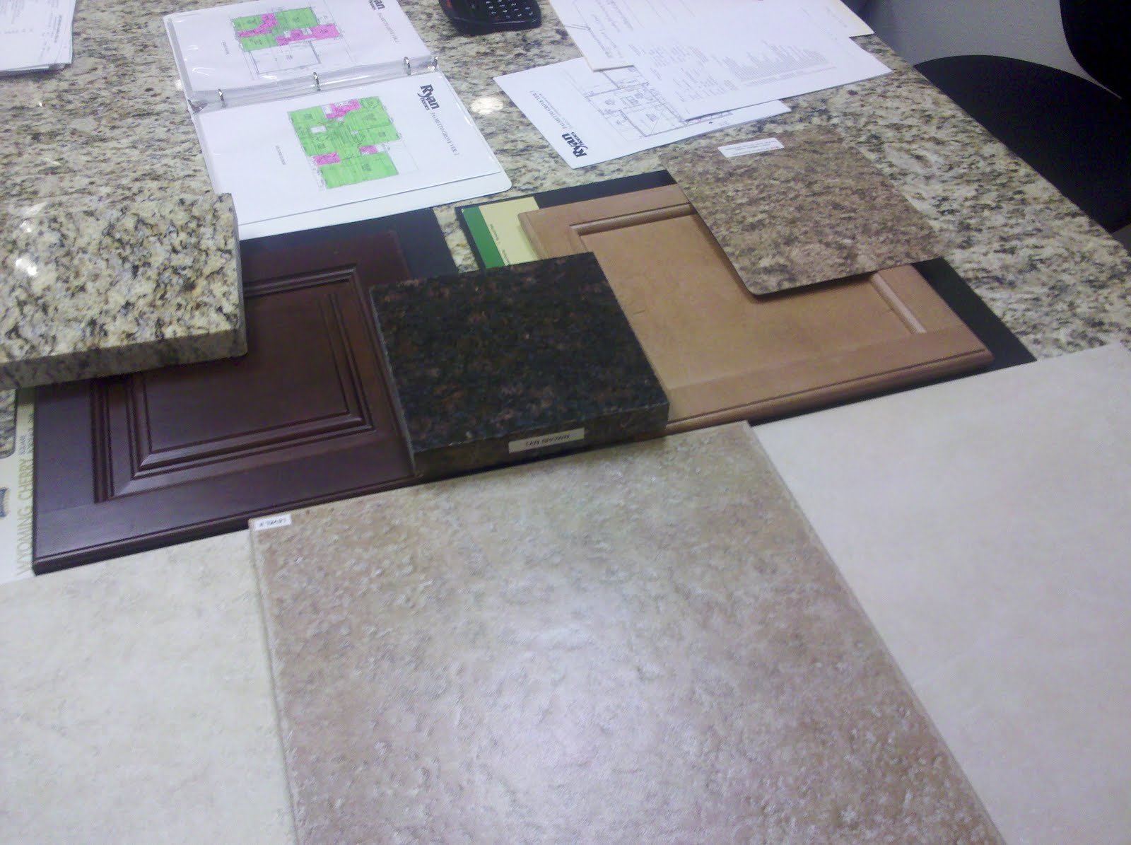 Ryan Homes Palmetto Grove: A few pics of flooring and tile choices