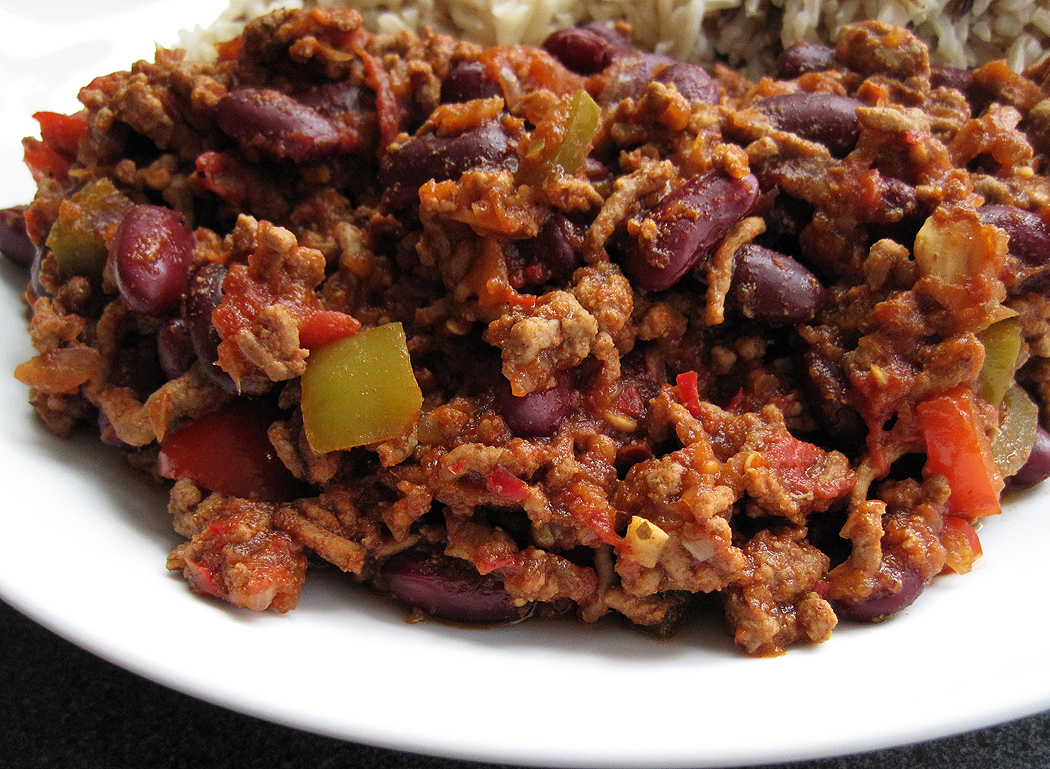 jan 39 s chilli con carne nice and spicy a glug of oil. Black Bedroom Furniture Sets. Home Design Ideas