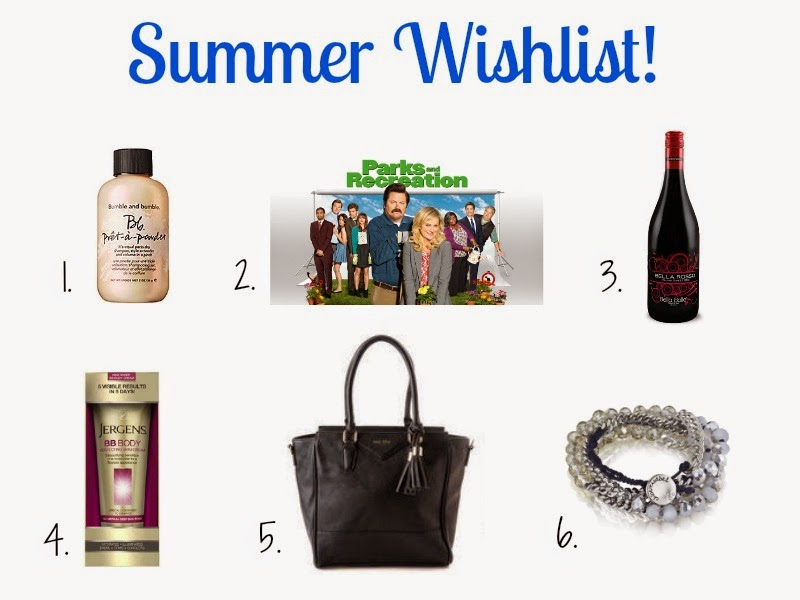 Summer Wishlist - Bumble and Bumble, Parks and Recreation, Chloe and Isabel, Francescas