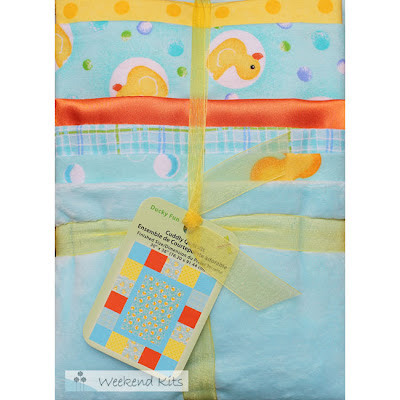 Ducky Fun Cuddly Quilt Kit