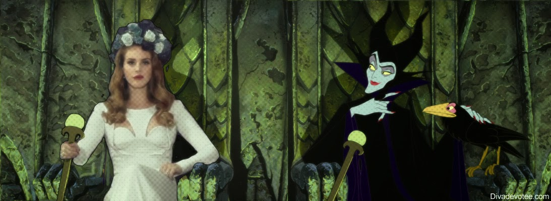 Lana Del Rey Maleficent chilling