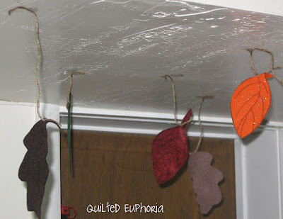 Putting up Felt Leaves