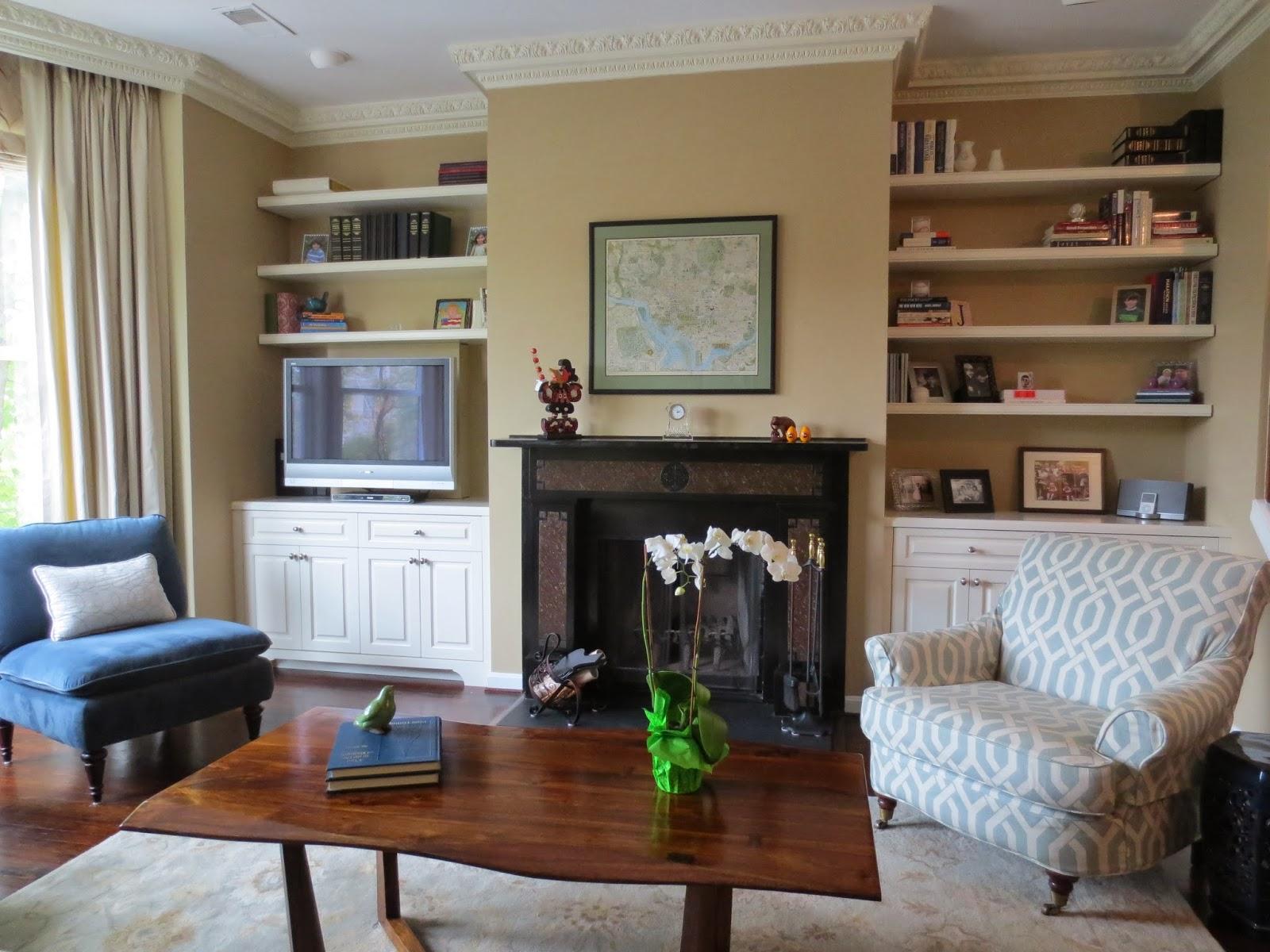 living room cabinets next to fireplace justsingit com