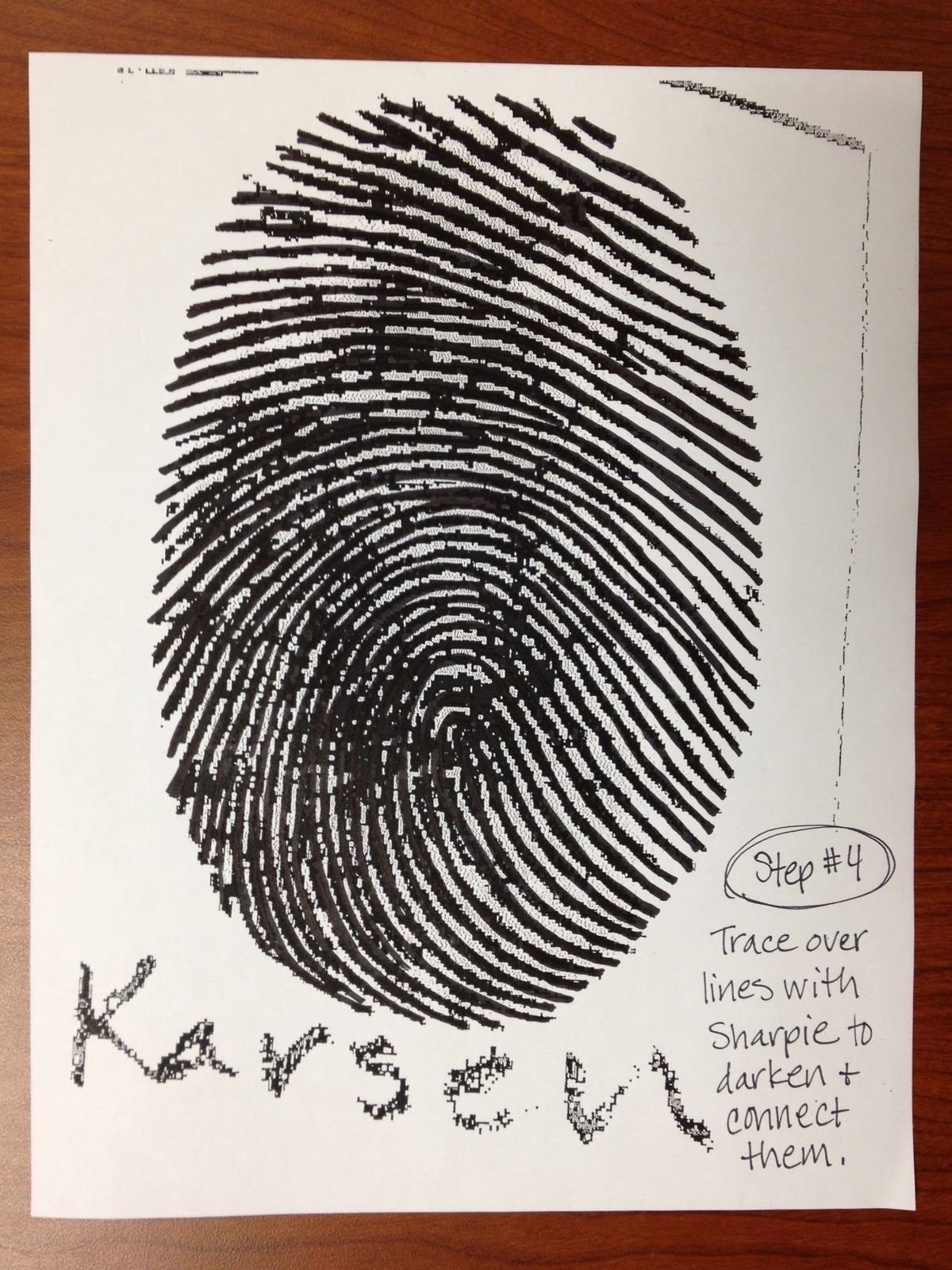 thumbprint self portrait teachkidsart thumbprint self portrait