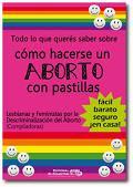 Descargá gratis el libro que te cuenta como hacerse un aborto con pastillas