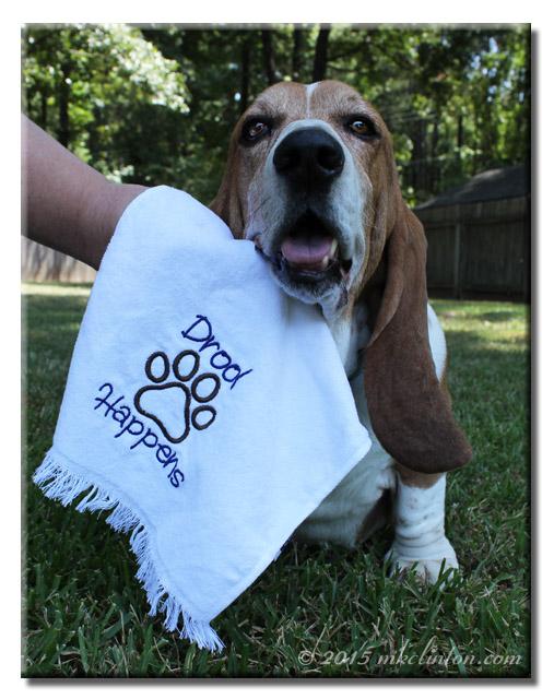 Basset's drool towel
