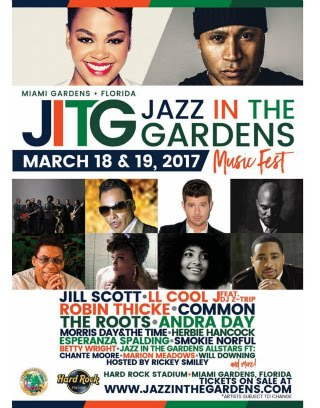 Snappin Event: Miami Jazz In The Gardens  Music Fest 2017