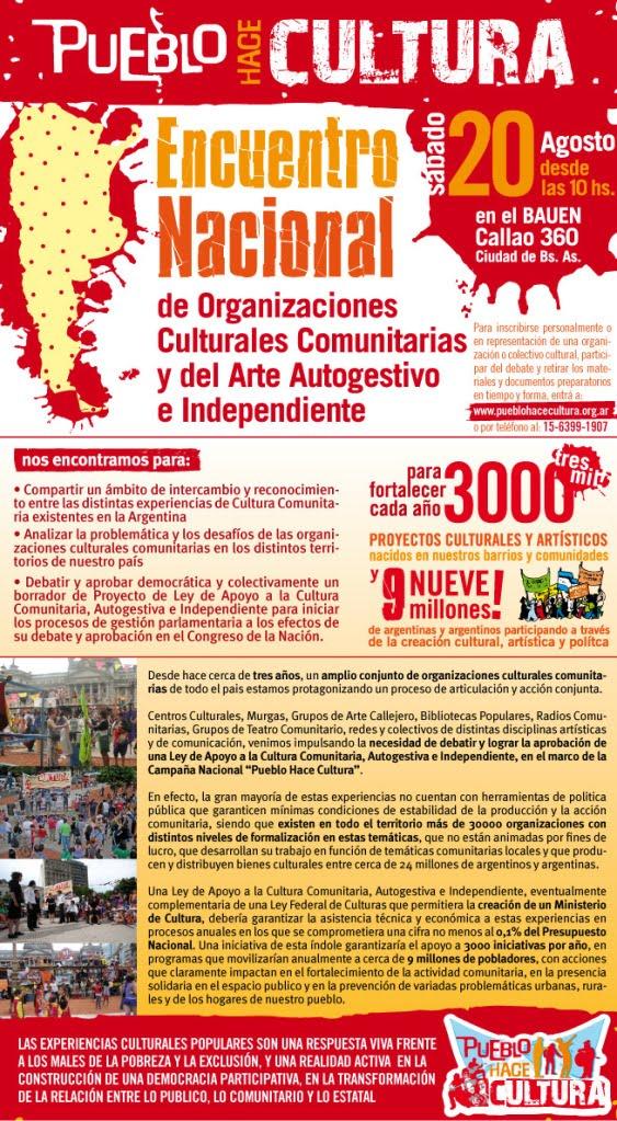 """""""Por la CULTURA COMUNITARIA y AUTOGESTIVA"""""""