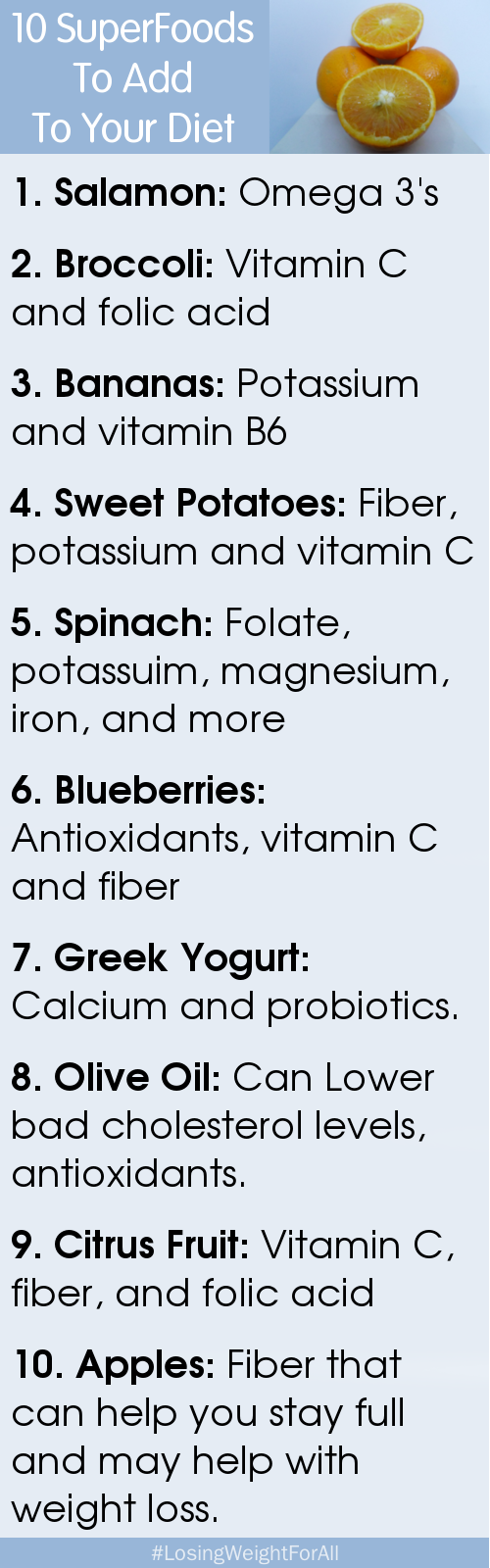 10 SuperFoods Diet Plan