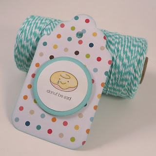 Donut Be Sad Gift Tag with Twinery Twine