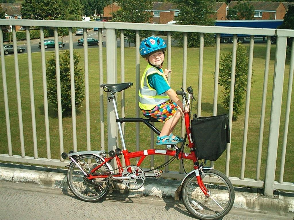 riding a folding bike around manila extra seat for the brompton