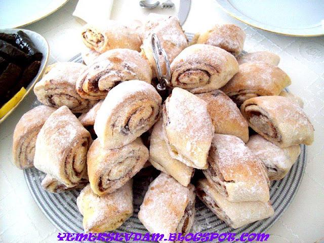 Elmalı rulo kurabiye