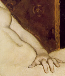 Edouard Manet, Olympia (detail), 1863