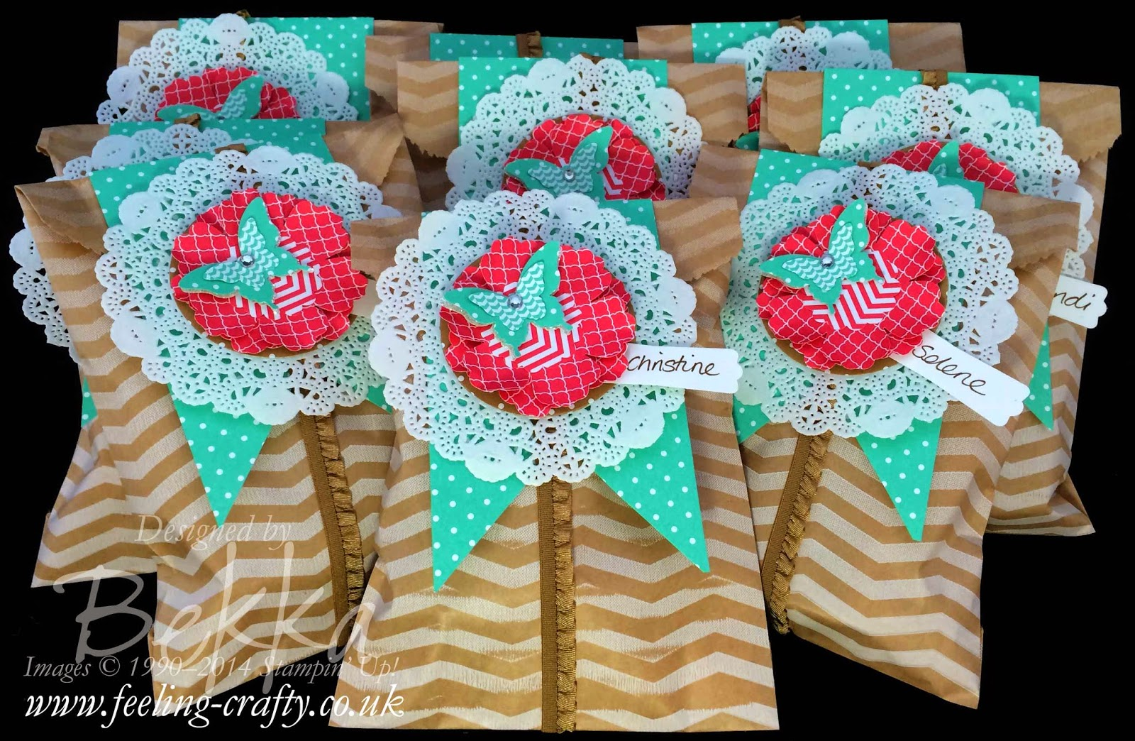 Pretty Packages in Paper Bags by Stampin' Up! UK Independent Demonstrator Bekka Prideaux - check them out here