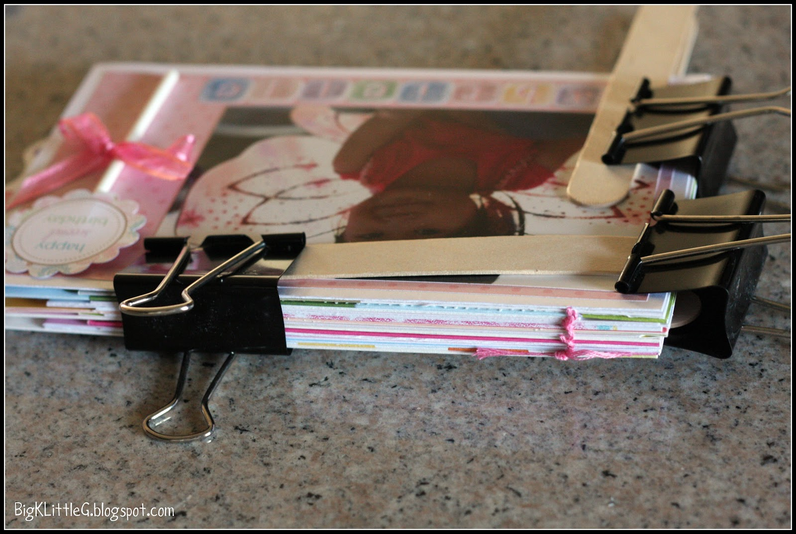 Big k little g diy birthday card keepsake book tutorial m4hsunfo