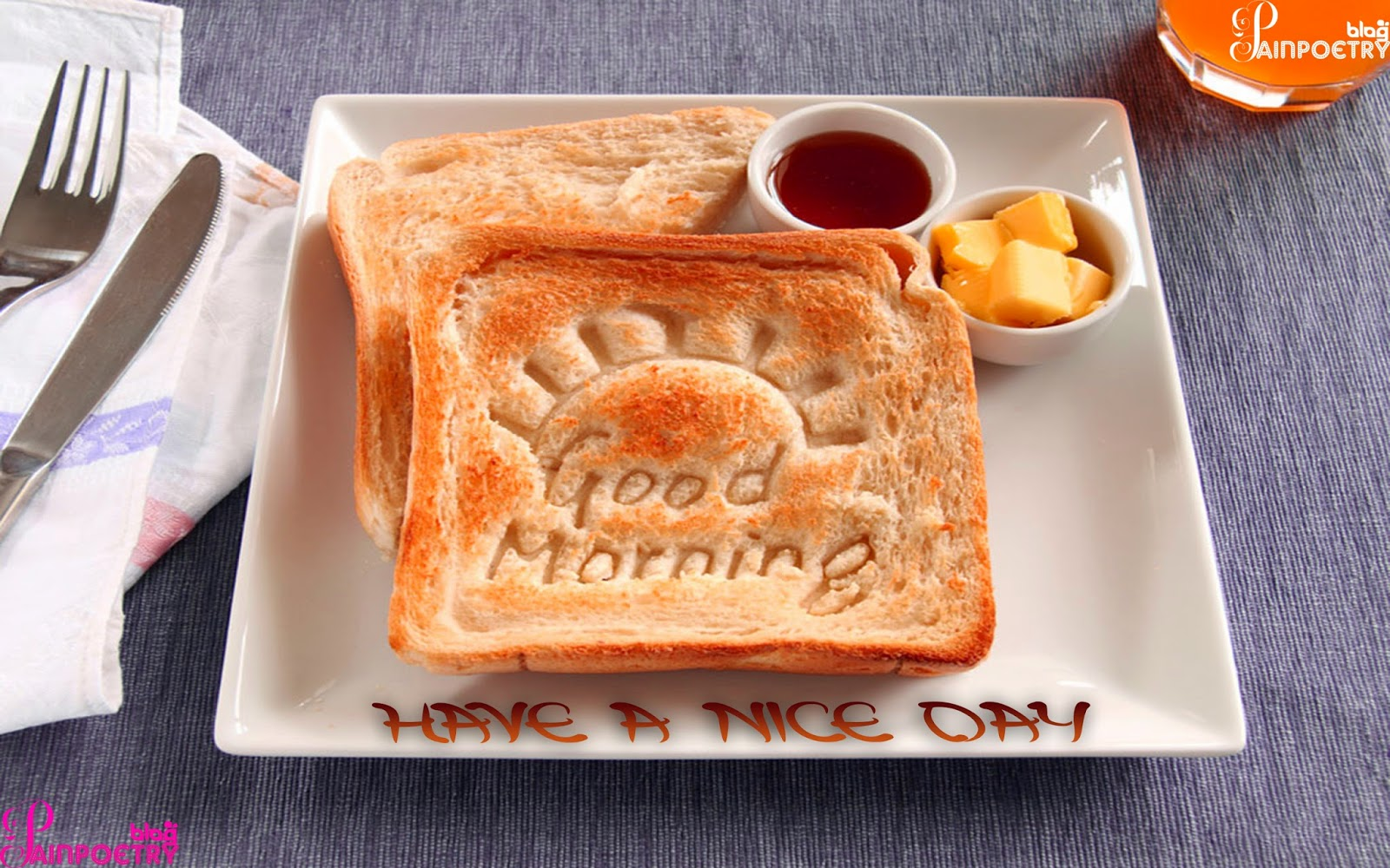 Good-Morning-With-Bread-In-The-Tray-With-Cofee-Near-Spoon-On-Paper-HD