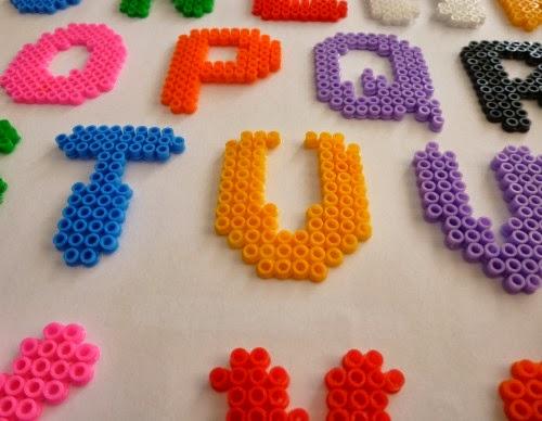 abecedario letras pyssla hama DIY manualidades
