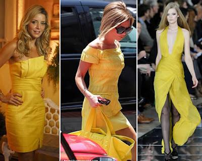 Modelos de Vestidos de Amarelos