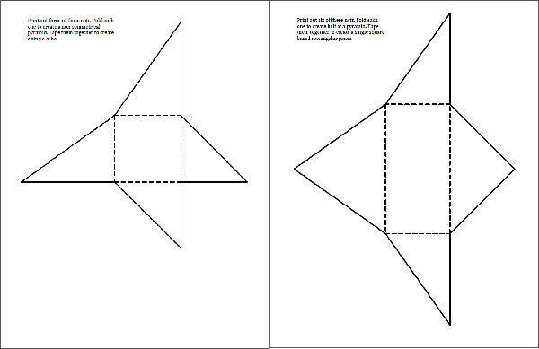 how to draw a rectangular pyramid