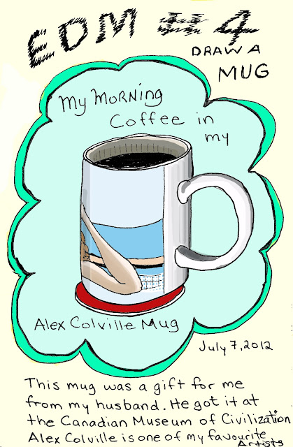 EDM #4 - Draw Your Mug. My mug. Pen and ink with digital colour by Ana Tirolese ©2012