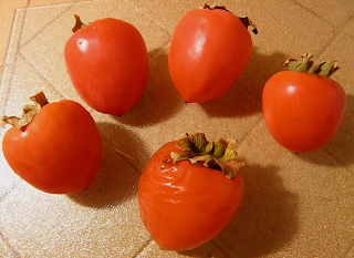 Five Ripe Persimmons