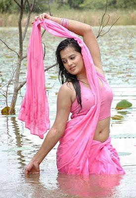 Tamil actress Saree photos navel show